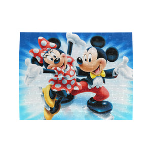 Mickey n Minnie Rectangle Jigsaw Puzzle (Set of 110 Pieces)