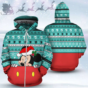 Minnie Mouse - Xmas - Zip-up Hoodie