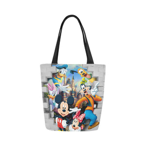 Mk and friends wall Canvas Tote Bag (Model 1657)