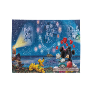 Mickey love Minnie Rectangle Jigsaw Puzzle (Set of 110 Pieces)