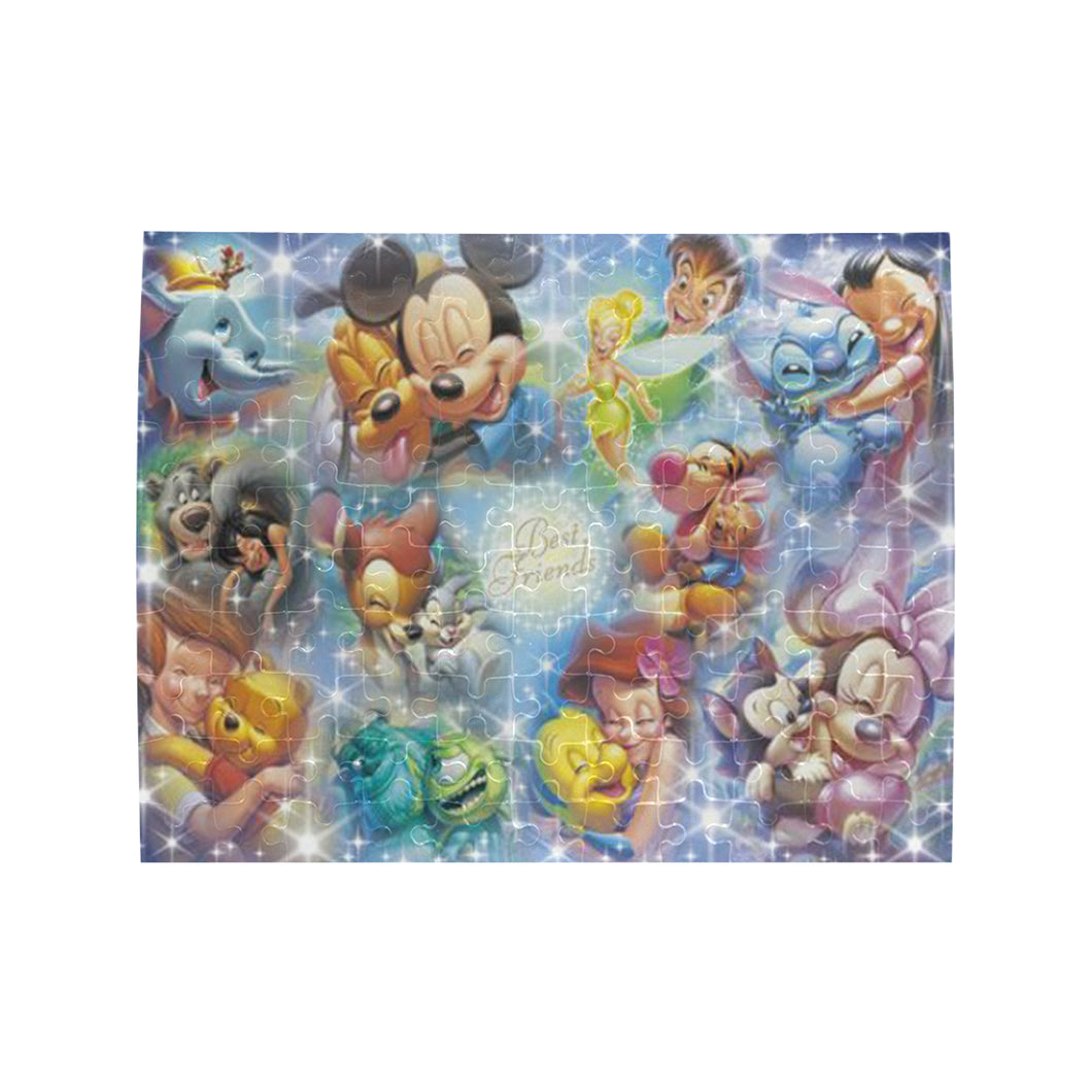 Best Friends Disney Rectangle Jigsaw Puzzle (Set of 110 Pieces)