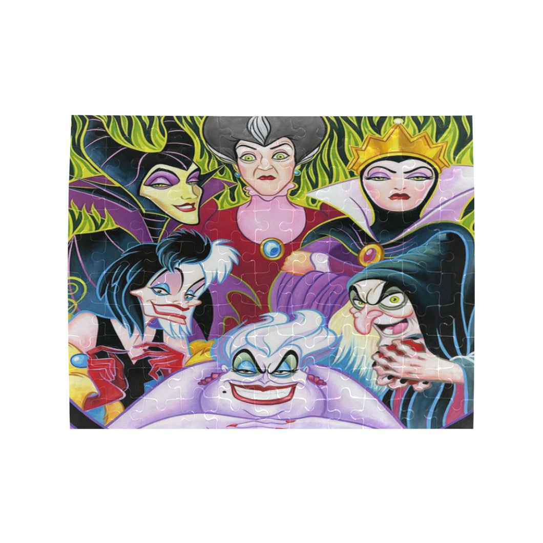 Villains Women Rectangle Jigsaw Puzzle (Set of 110 Pieces)