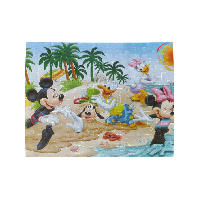 Mickey n Friends Beach Rectangle Jigsaw Puzzle (Set of 110 Pieces)