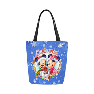 Mk Mn Xmas Blue Canvas Tote Bag (Model 1657)