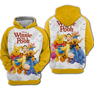 Winnie The Pooh All Over Hoodie