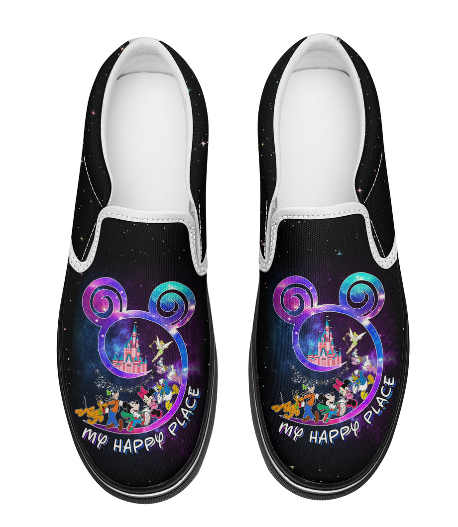 My Happy Place Face Slip-on Sneakers
