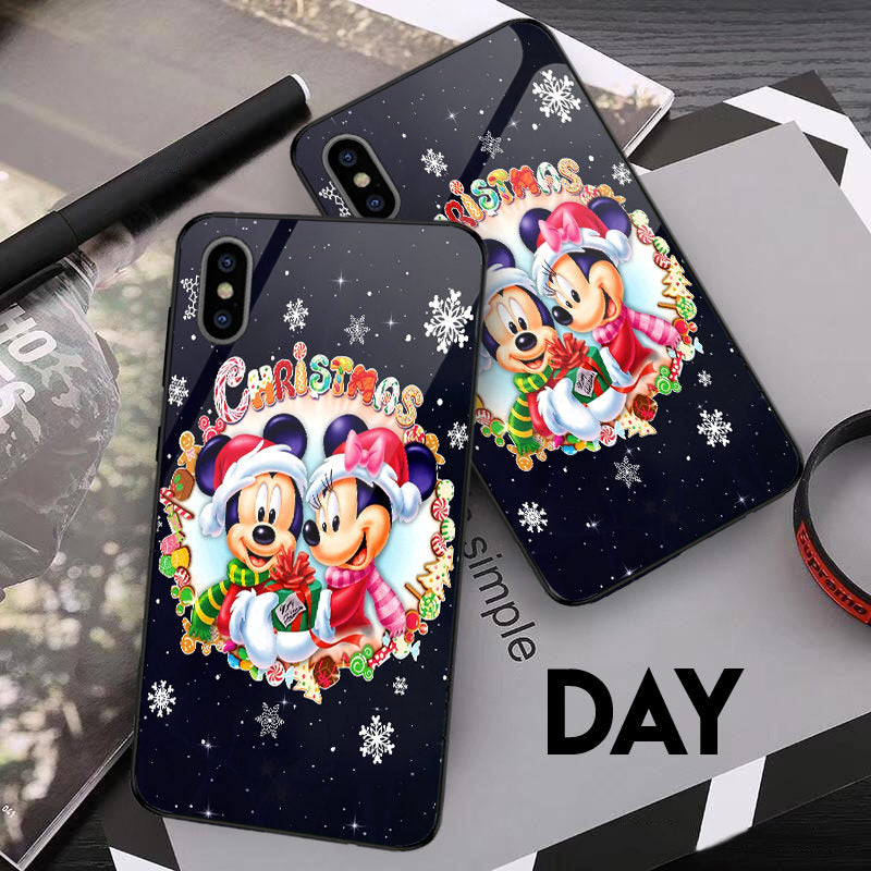 Mickey n Minnie Christmas - Glowing Phone Case