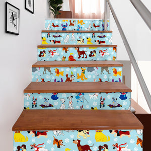 Disney Dogs Stair Stickers (Set of 6)