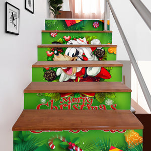 Goofy Christmas Stair Stickers (Set of 6)