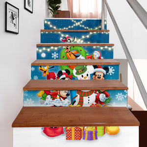 Disney Christmas Stair Stickers (Set of 6)