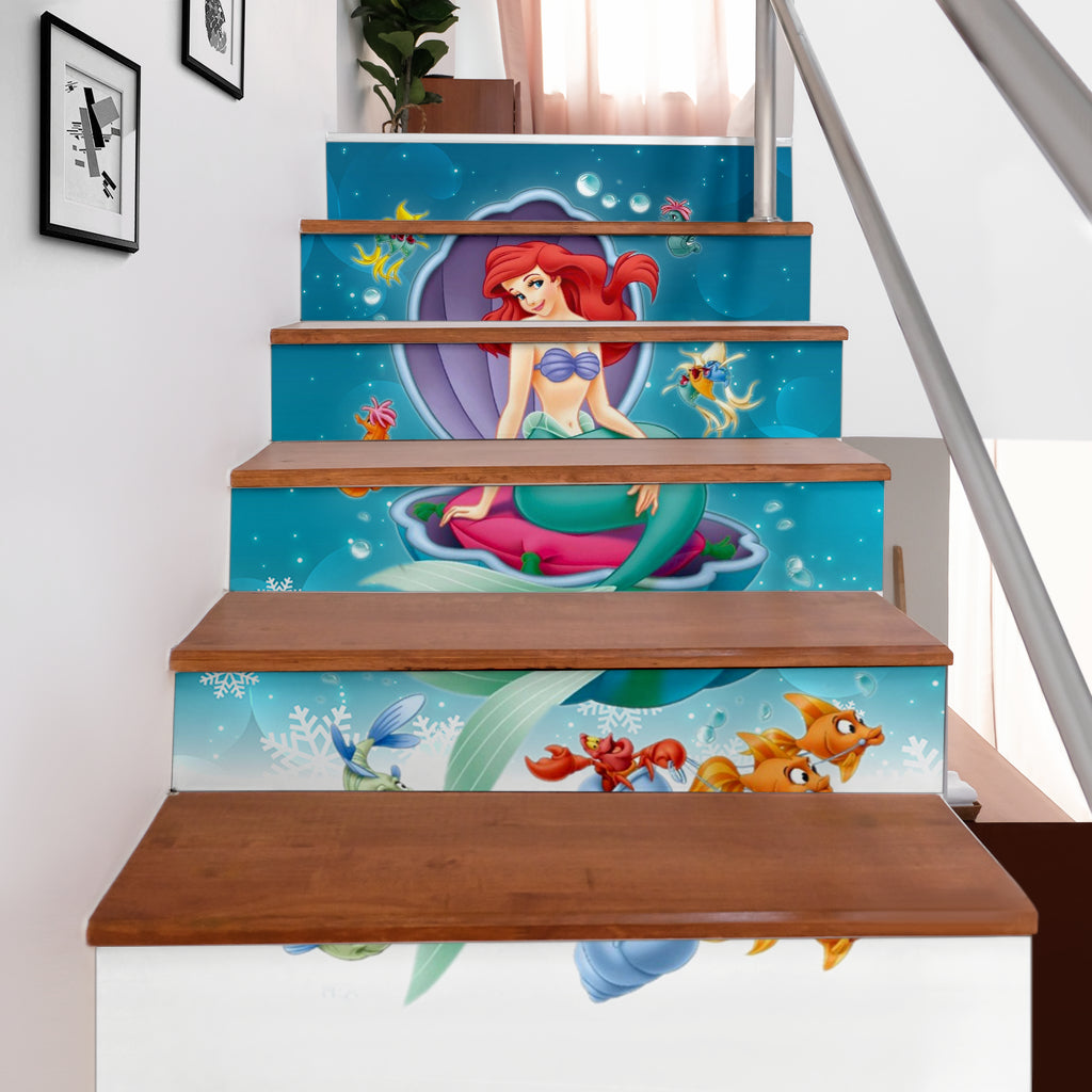 Ariel Stair Stickers (Set of 6)