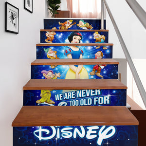 Snow White Stair Stickers (Set of 6)