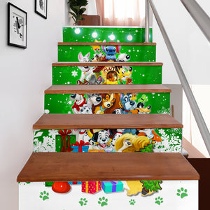 Disney Dogs Christmas Stair Stickers (Set of 6)