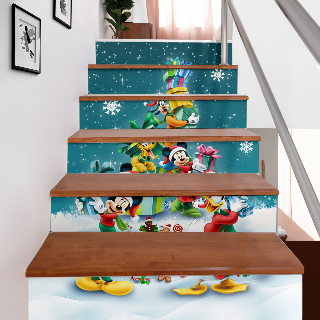 Mickey n Friends Stair Stickers (Set of 6)