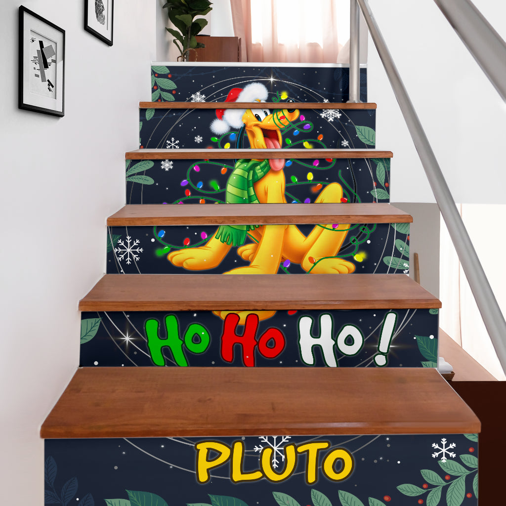 Pluto Hohoho Stair Stickers (Set of 6)