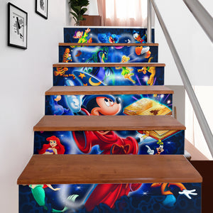 Mickey Fantasia Stair Stickers (Set of 6)