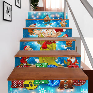 Dopey Stair Stickers (Set of 6)