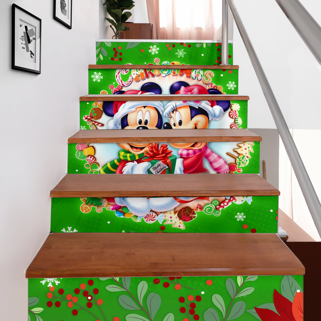 Mickey n Minnie Stair Stickers (Set of 6)