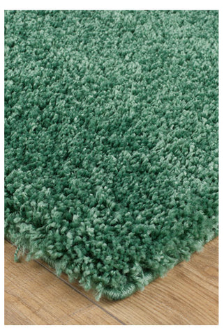 Image of Thick Shaggy Green Area Rug