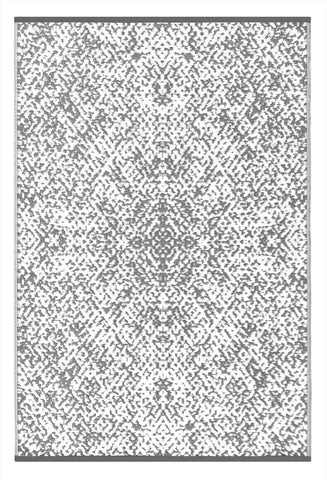Image of Rio Grey & White Indoor-Outdoor Reversible Rug cvsonia