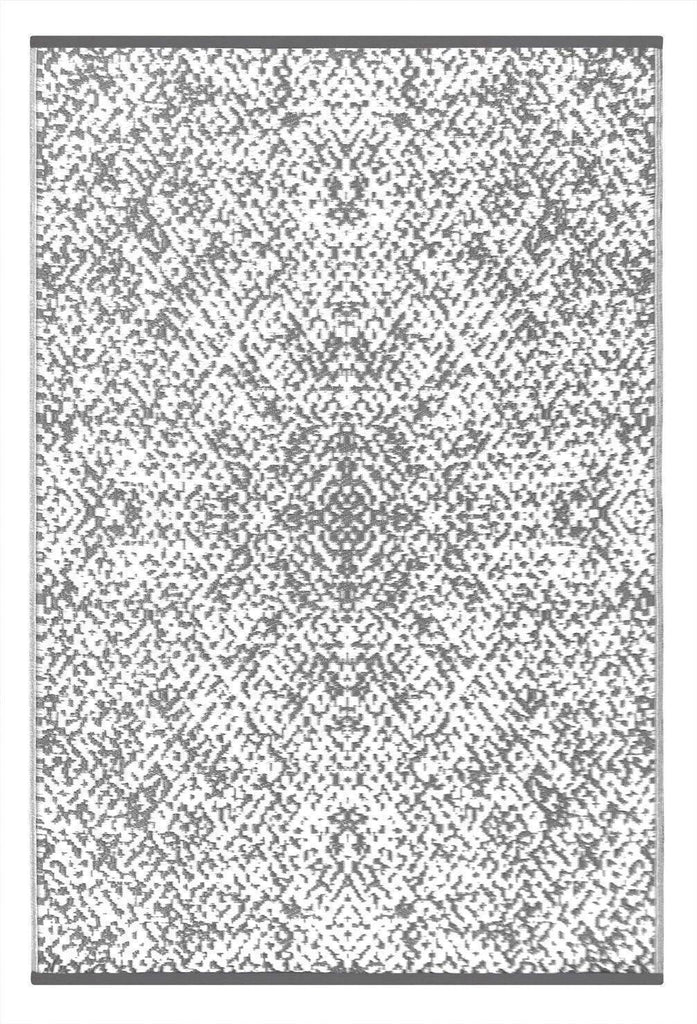Rio Grey & White Indoor-Outdoor Reversible Rug cvsonia