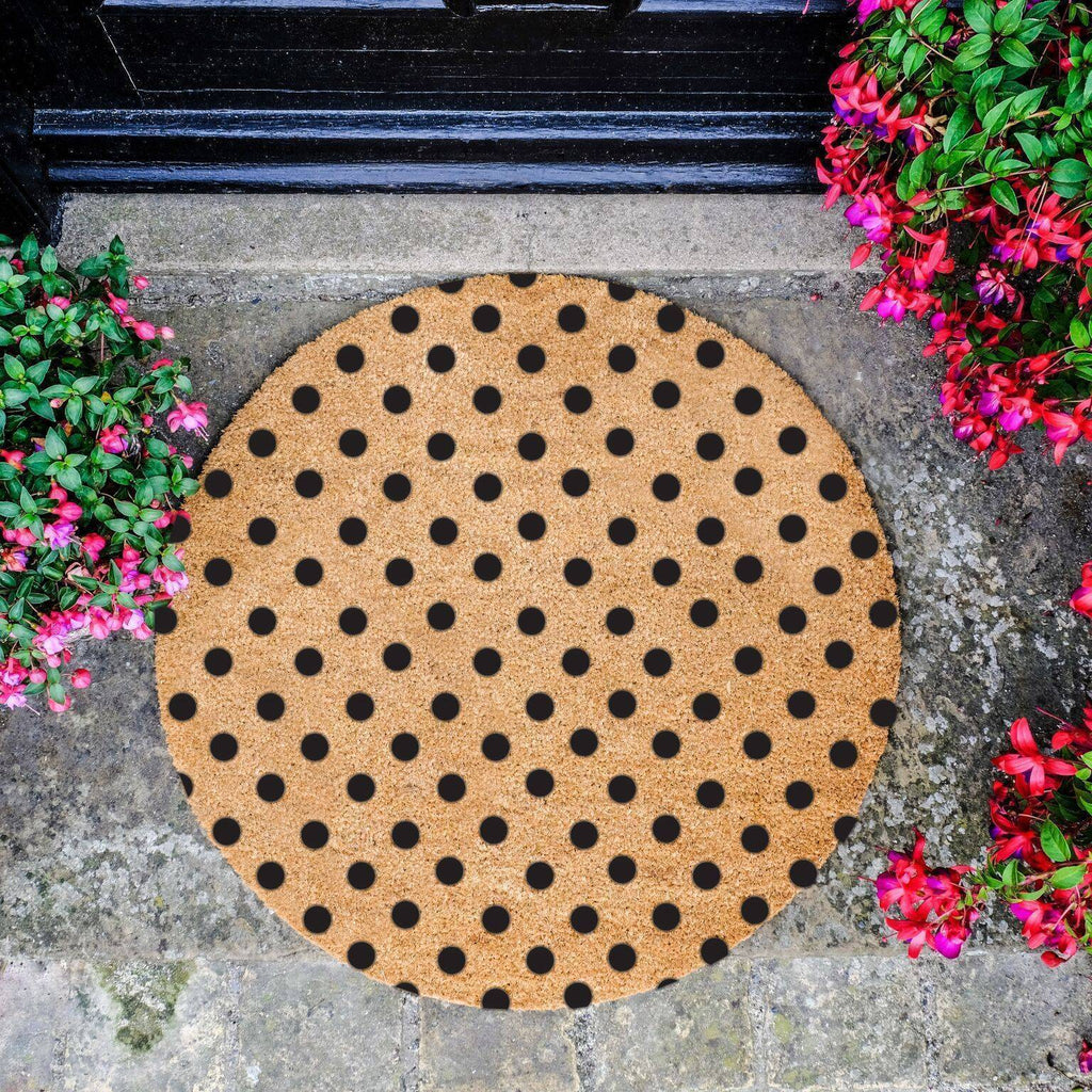 Dots Circle Doormat RUGSANDROOMS