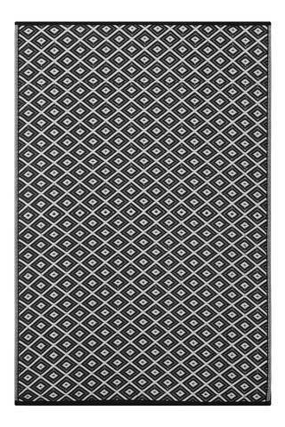 Arabian Nights Black & White Indoor-Outdoor Reversible Rug cvsonia