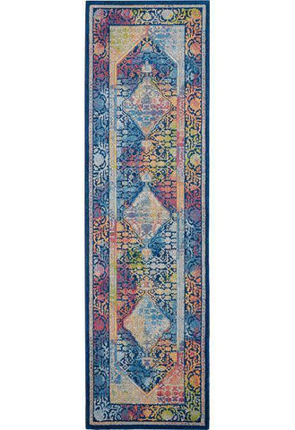 Image of Ankara Blue/Multi Area Rug RUGSANDROOMS