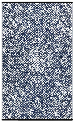 Image of Rio Dark Blue & White Indoor-Outdoor Reversible Rug cvsonia