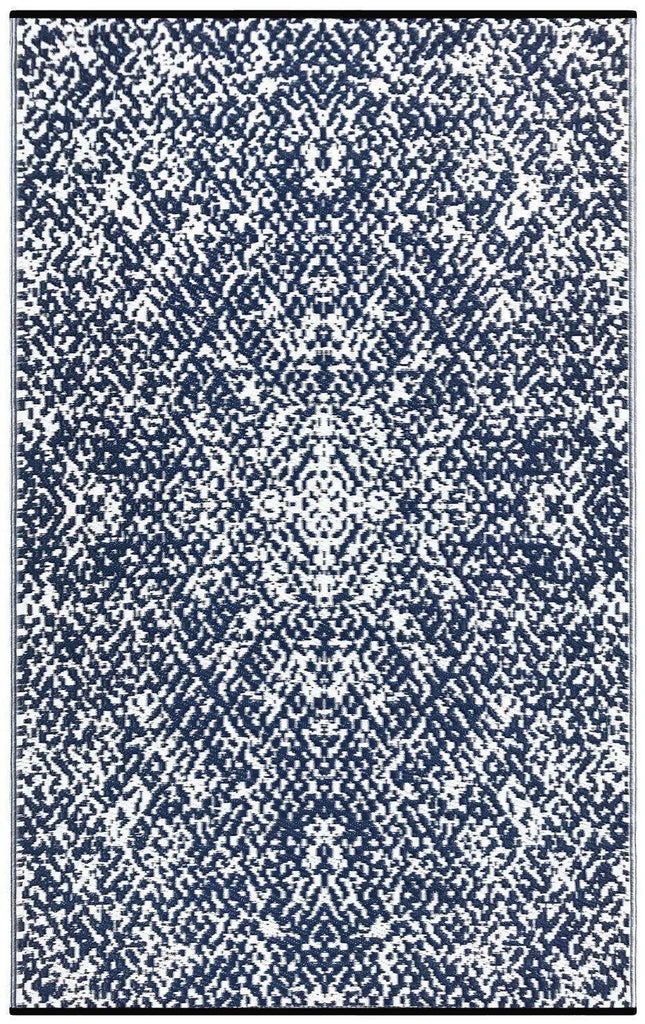 Rio Dark Blue & White Indoor-Outdoor Reversible Rug cvsonia