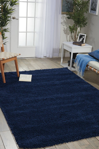 Nourison Dark Blue Area Rug RUGSANDROOMS