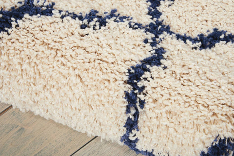 Image of Nourison Ivory/Blue Area Rug RUGSANDROOMS