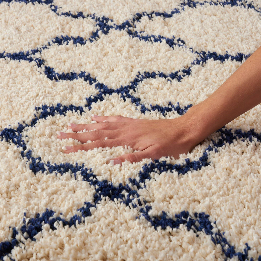 Nourison Ivory/Blue Area Rug RUGSANDROOMS