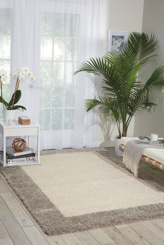 Nourison Ivory/Silver Area Rug RUGSANDROOMS