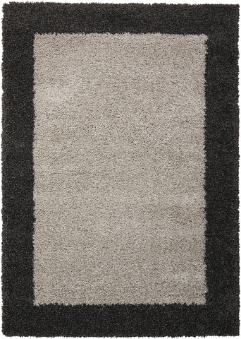 Nourison Silver/Charcoal Area Rug RUGSANDROOMS