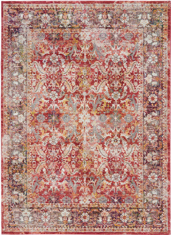 Image of Ankara Red Area Rug RUGSANDROOMS