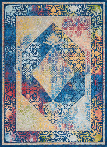 Ankara Blue/Multi Area Rug RUGSANDROOMS