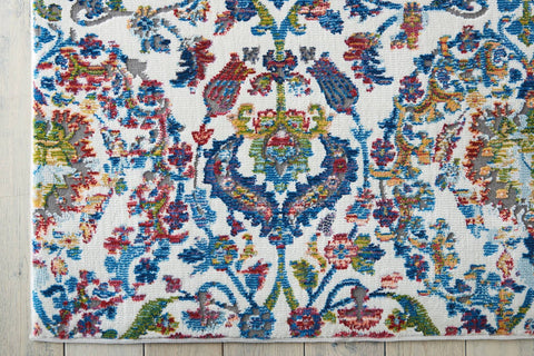Image of Ankara Ivory/Blue Area Rug RUGSANDROOMS
