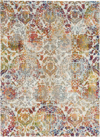 Ankara Ivory/Orange Area Rug RUGSANDROOMS