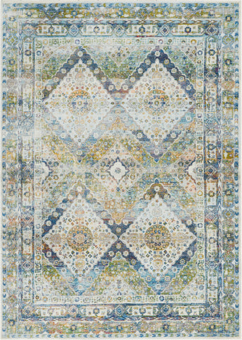 Ankara Blue/Green Area Rug RUGSANDROOMS