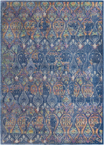 Image of Ankara Navy/Multi 08 Area Rug RUGSANDROOMS