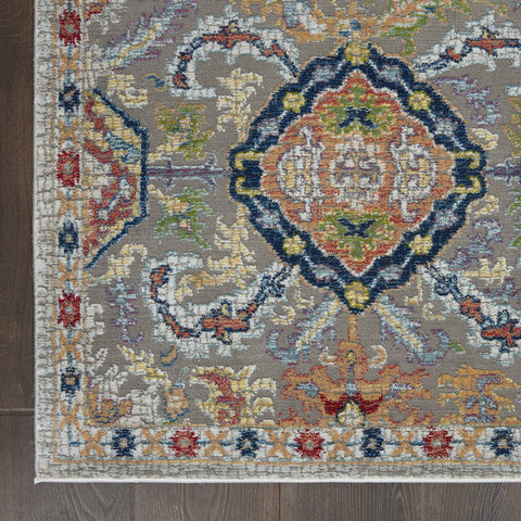 Image of Ankara Grey/Multi Area Rug RUGSANDROOMS