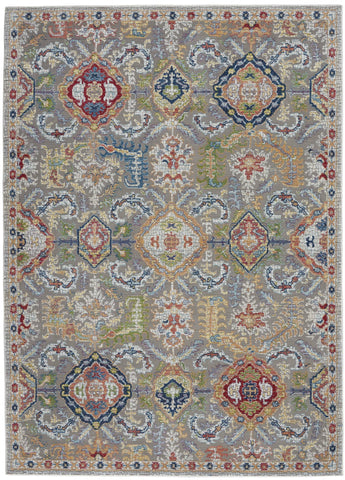 Ankara Grey/Multi Area Rug RUGSANDROOMS