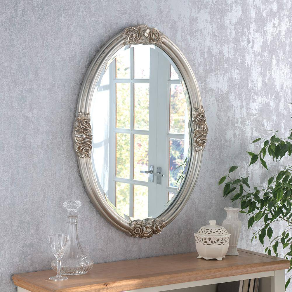 Snowbeam Silver Mirror RUGSANDROOMS