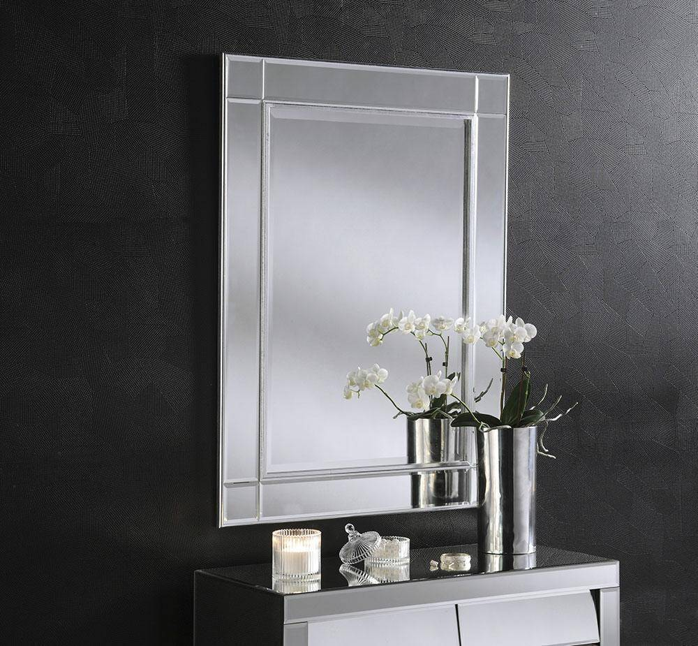 Modestine Silver Mirror RUGSANDROOMS