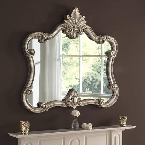 Image of Traditional Silver Wall Mirror RUGSANDROOMS