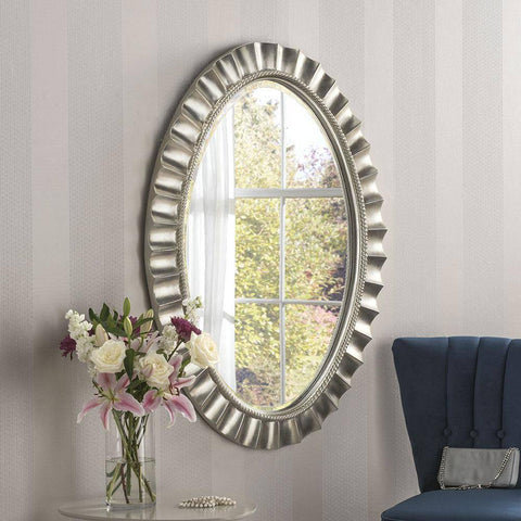 Silver Art Accent Mirror RUGSANDROOMS