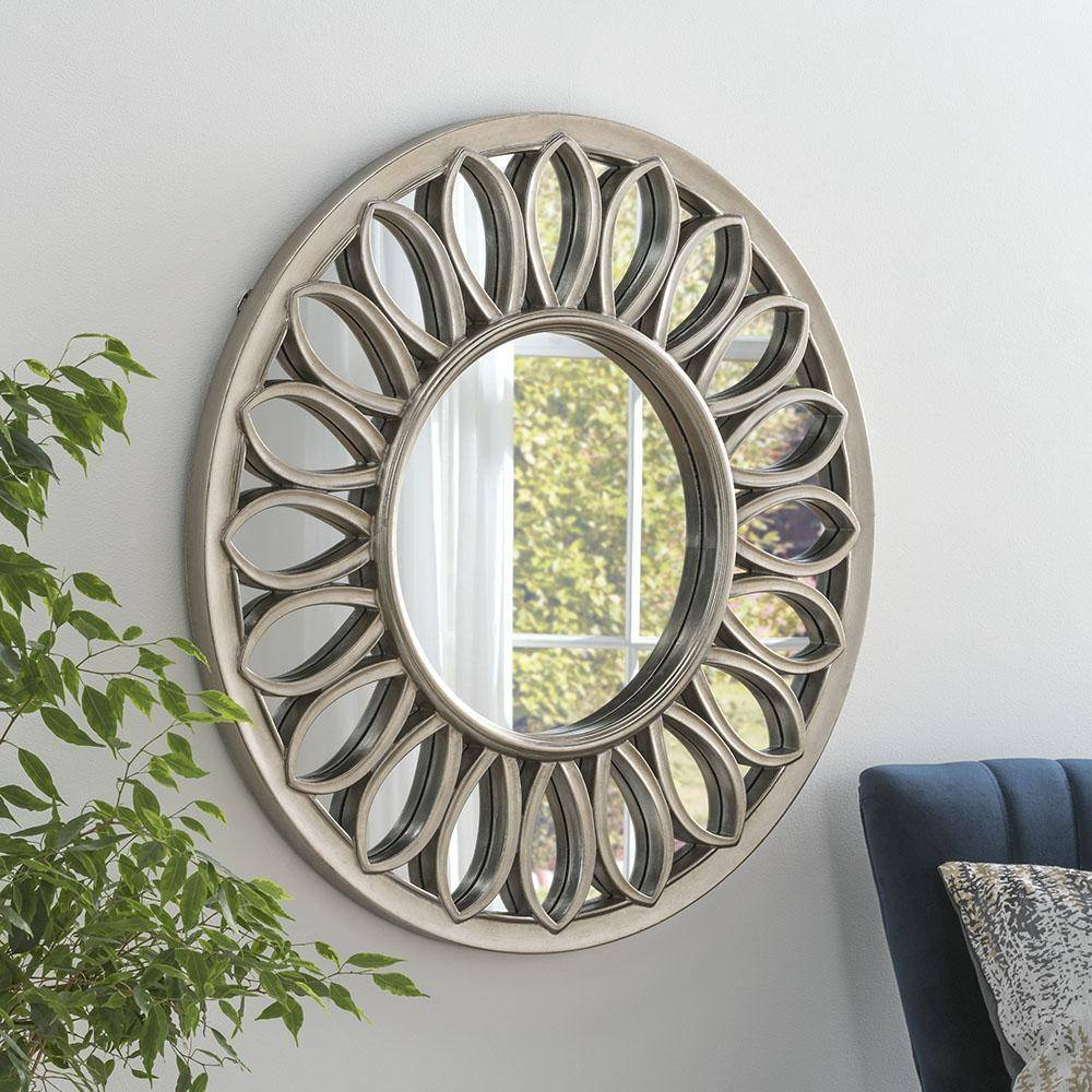Sintra Silver Accent Mirror RUGSANDROOMS