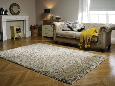 Image of Bianca Natural Shaggy Area Rug RUGSANDROOMS