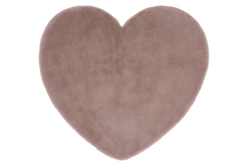 Image of Pink Heart Shaggy Area Rug